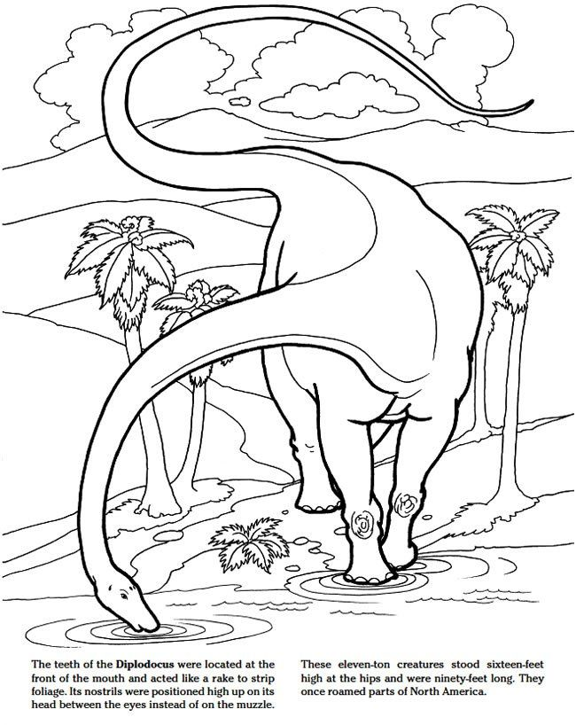 Jurassic Dinosaurs Coloring Pages - Print and Color - News - Great ...