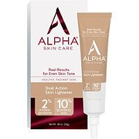 Alpha Skincare Dual Action Skin Lightener Skin Lightener Skin Lightening Cream Combination Skin Care