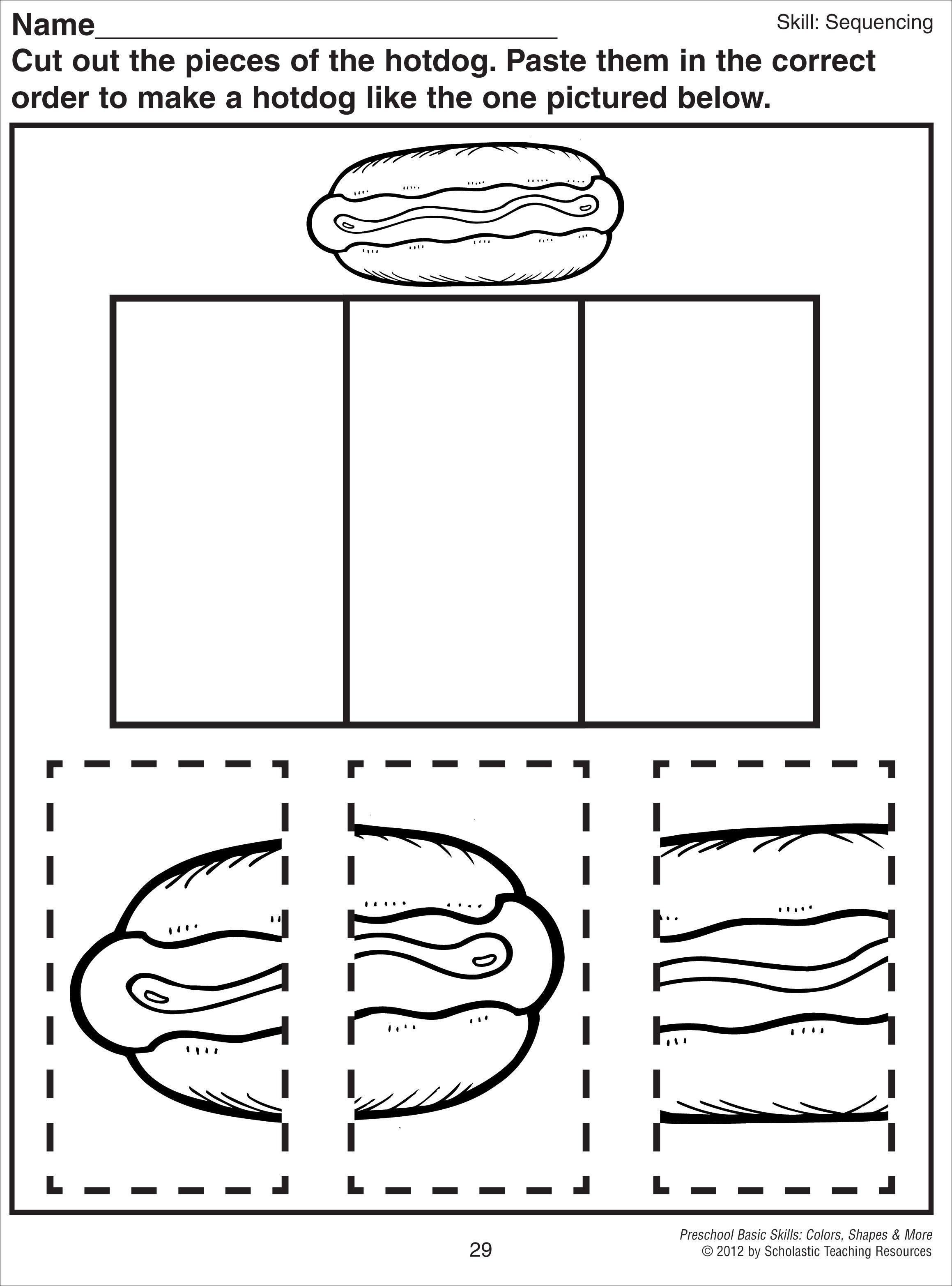 Knippen En Puzzelen Hotdog