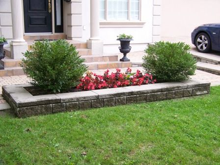 Amazing This Is A Simple Yet Elegant Accent Flower Bed, Using Two Boxwood Shrubs  Trimmed Round Part 27