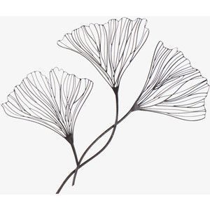 Wire Wall Decor metal floral wire wall decor these are ginko leaves - my very