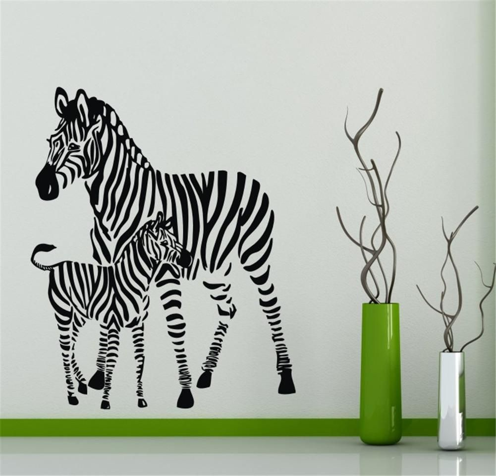 Two zebra horses animal vinyl wall decals home art stickers home art