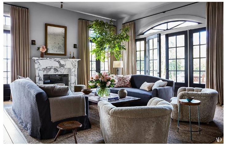 Step Inside Jessica Alba S Haven In Los Angeles Jessica Alba Stylish Living Room Home Decor