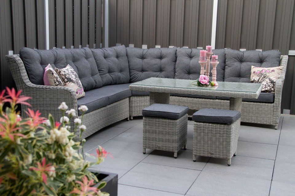 minimalist modern landscape design with rattan sofa   Furniture, Modern Minimalist Garden Lounge Furniture Grey ...