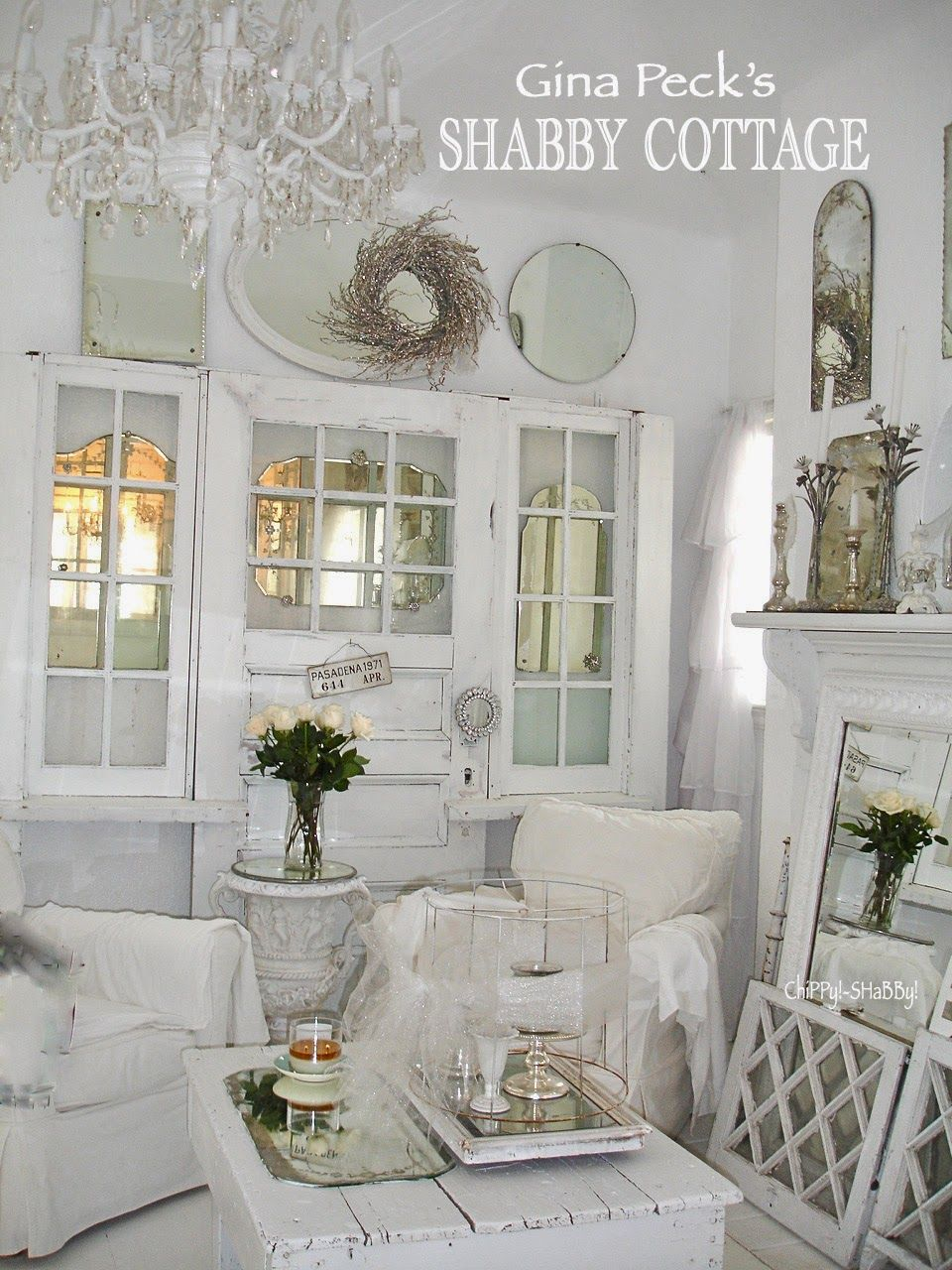Shabby Best Ever Shabby White Out Gina Peck S Cottage Home Shabby Chic Room Shabby Chic Interiors Shabby Chic Room Decor
