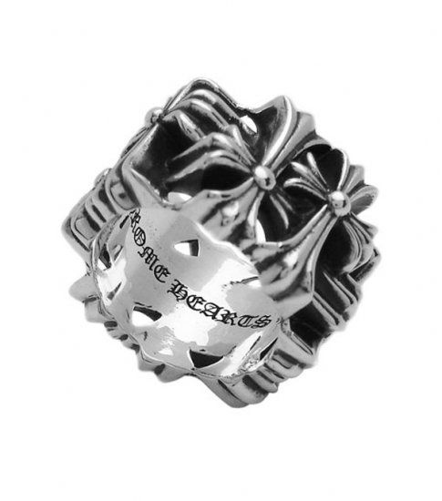 8c07f26ee2eb Cheap Chrome Hearts Cemetery Square 925 Silver Ring