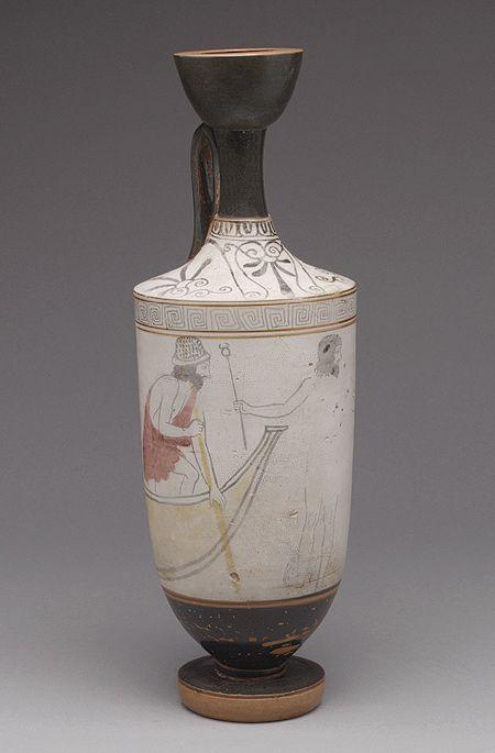 Terracotta Lekythos Oil Flask Ancient Greek Pottery Greek Pottery Greek Art