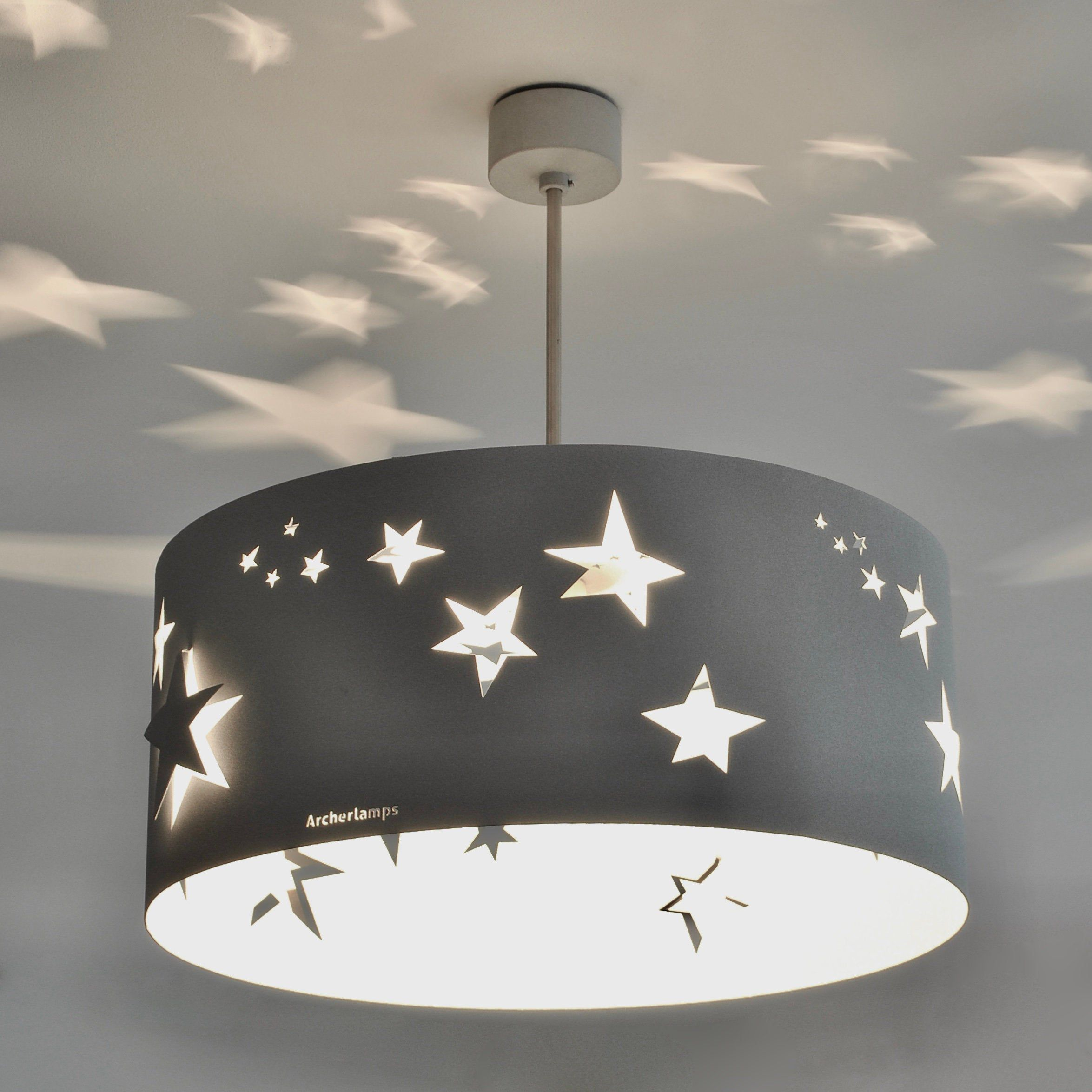 Modern Lamp Ceiling Light Stars Stardust Star Lights On