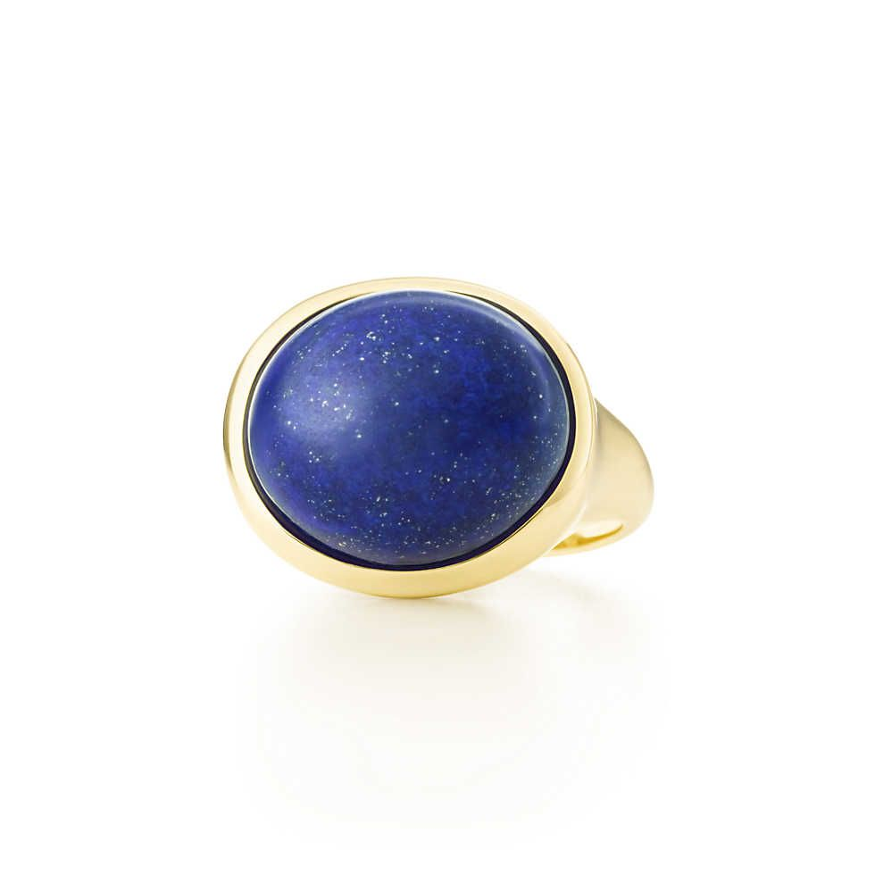 7e36e0c68 My Tenure Ring- What I will be getting for me-Elsa Peretti® Cabochon ring  in 18k gold with lapis lazuli, 15.5 mm wide.