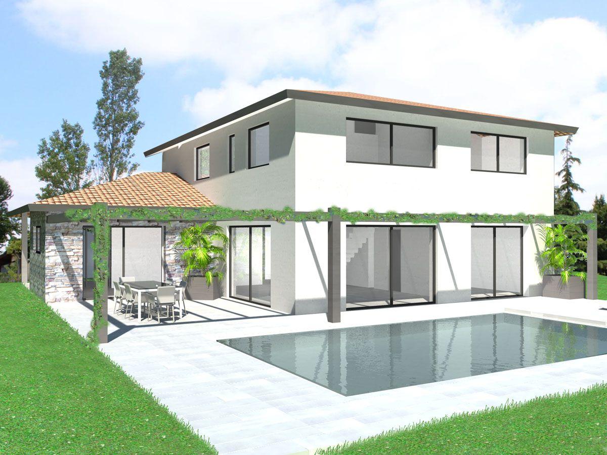 Plan Maison Architecte - Maison contemporaine économique (compacte ...