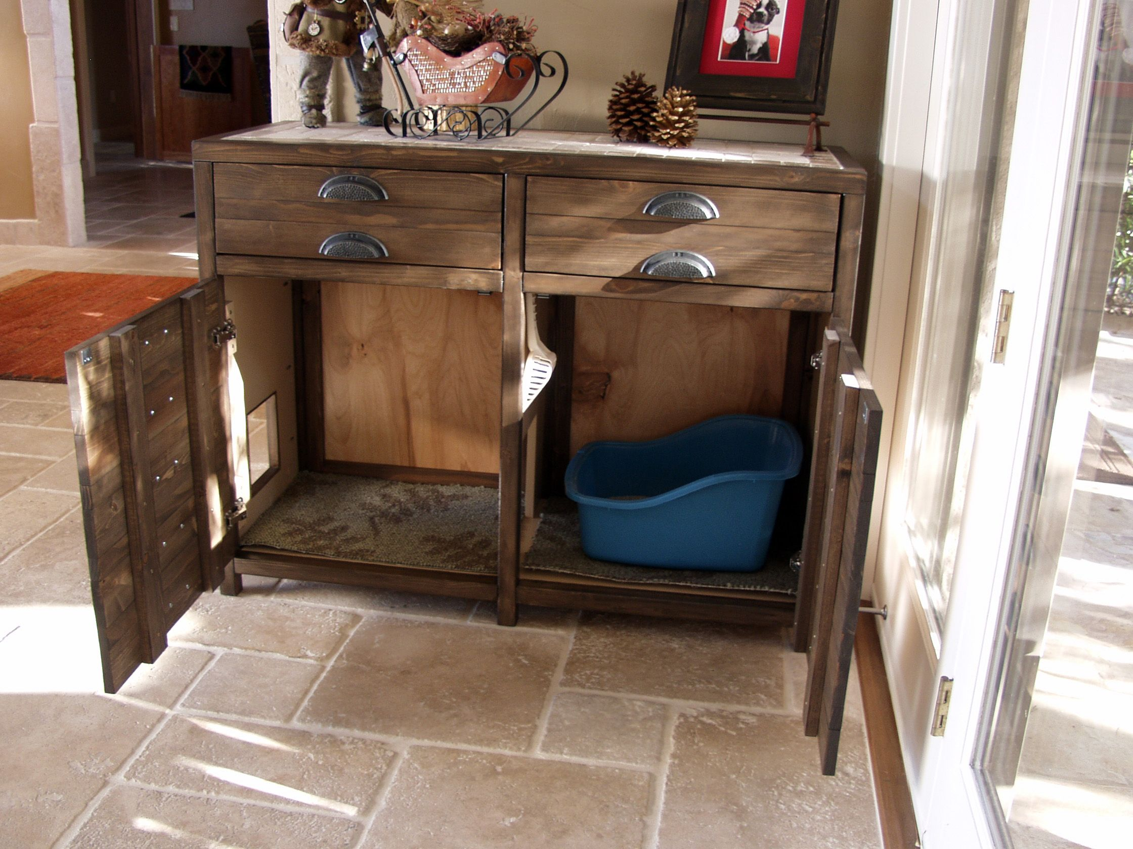 Printer S Console Or Sneaky Litterbox Cabinet Do It Yourself Home Projects From Ana White