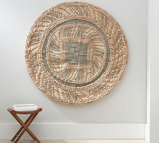 Round Woven Disc Wall Art Woven Wall Art Basket Wall Art Baskets On Wall