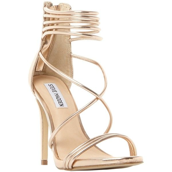 6784c9e7d6b Steve Madden Answer Multi Strap Stiletto Heeled Sandals ( 93) ❤ liked on Polyvore  featuring shoes