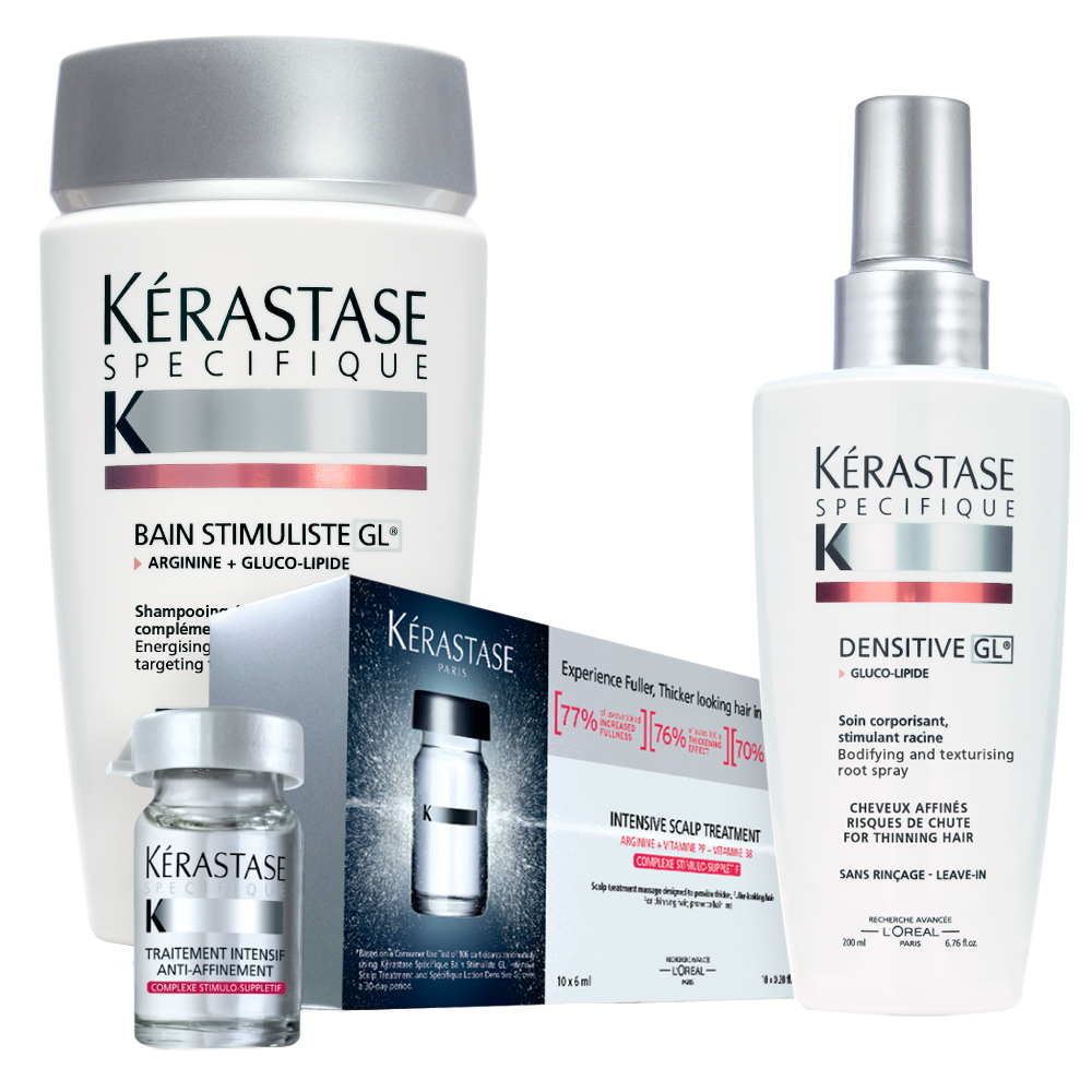 Specifique 3 Step System For Thinning Hair By Kerastase Kerastase Hair Care Products Professional Thin Hair Care