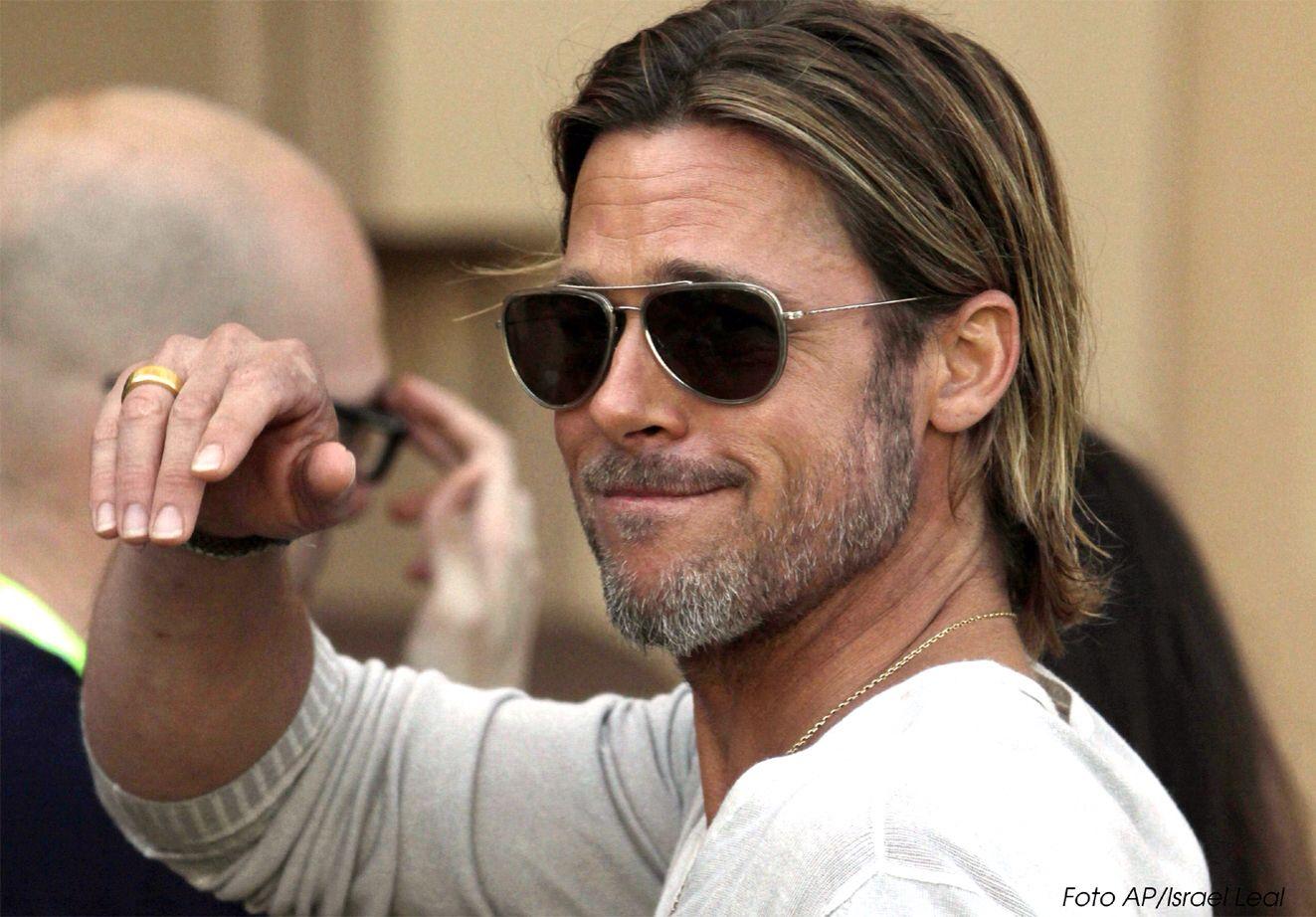 Haircuts for long hair mens brad pitt  hott guys   pinterest  brad pitt brad pitt hair