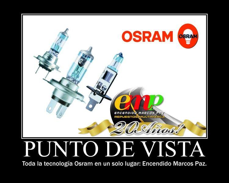 Osram: Para tener el mejor punto de vista. Encendido Marcos Paz, especialistas en iluminación.  No vendemos repuestos... Brindamos respuestas.