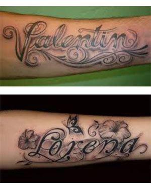 Tatuajes para hombres en el brazo nombres FOTOS
