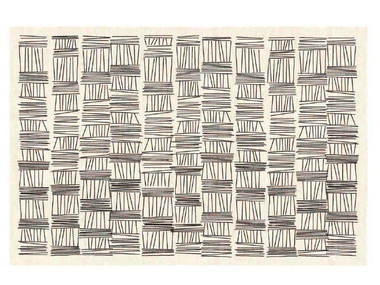 Patterned handmade rectangular rug AMINIMA 09 Aminima I Collection by DIURNE.COM | design Studio Diurne