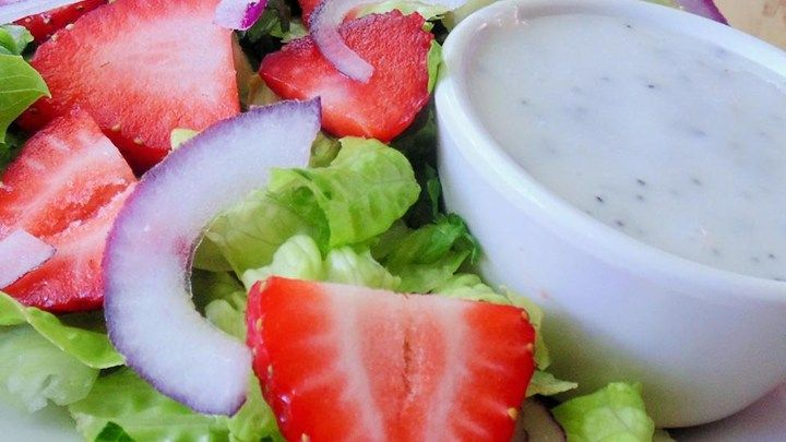 Chelsey's Strawberry Salad with Poppy Seed Dressing #MyAllrecipes #AllrecipesAllstars #IMadeIt #AllrecipesFaceless