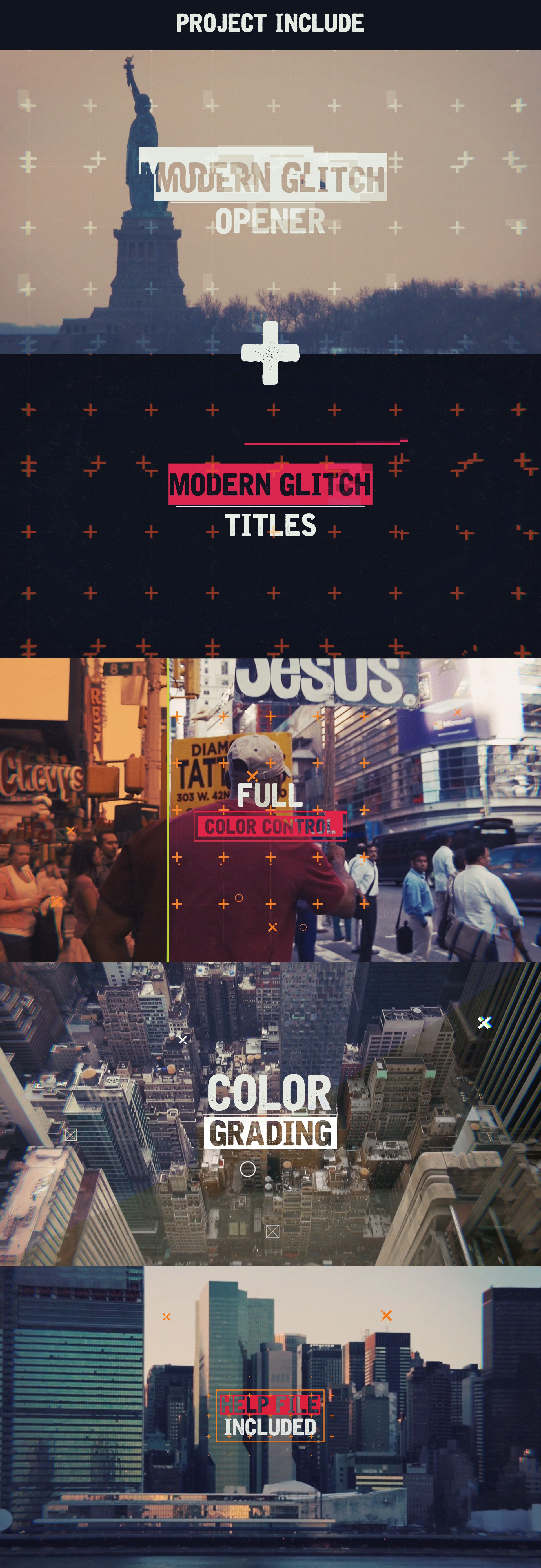 motion graphics/ storyboards/ styleframes   Epic Modern Glitch Opener - After Effects Project Files by VideoHive
