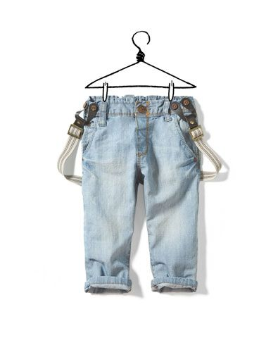 baby jeans with suspenders from zara