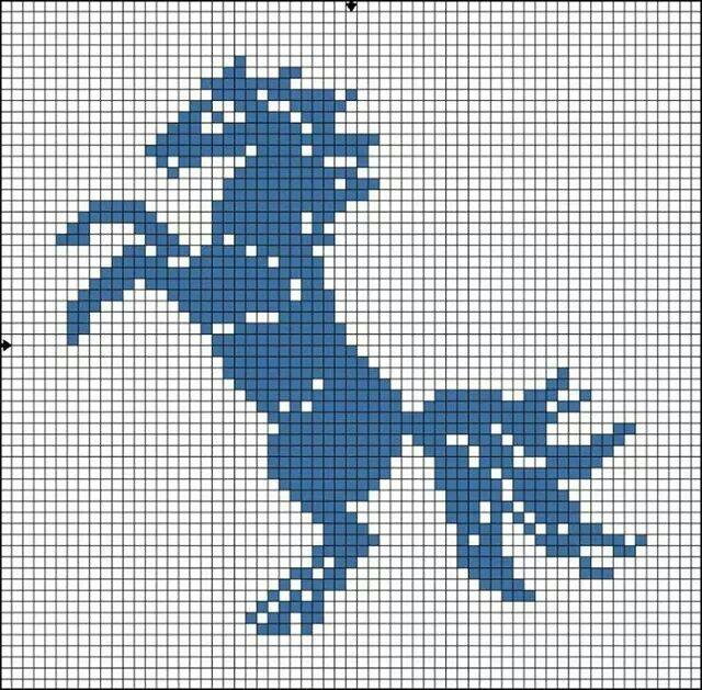 Caballo | haft krzyżykowy - konie | Pinterest | Caballos, Lobo de ...