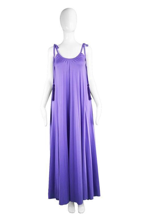 Frank Usher 1970 Pink Chiffon Dress