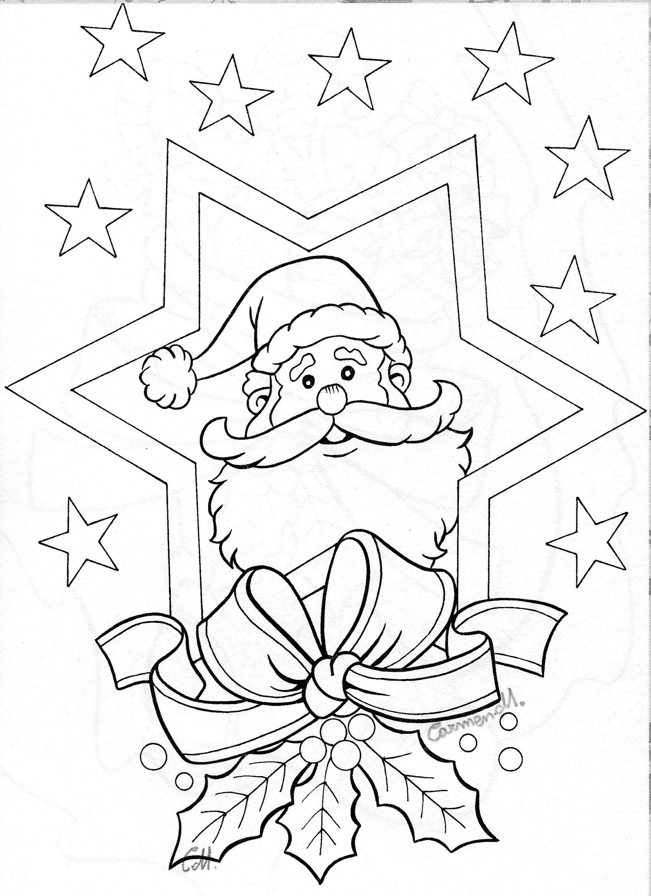 Der Weihnachtsmann ist voller Vorfreude #Ausmalbild #Malvorlage ...
