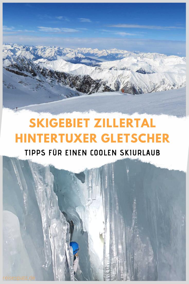 Skigebiet Zillertal mit Hintertuxer Gletscher in Österreich