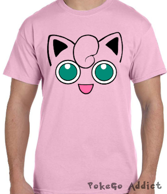 bab5ec50 Jigglypuff Face Pokemon Go Cosplay Parody T-Shirt * Sizes 2T - 6XL* Ladies  Sizes * Wigglytuff * Da