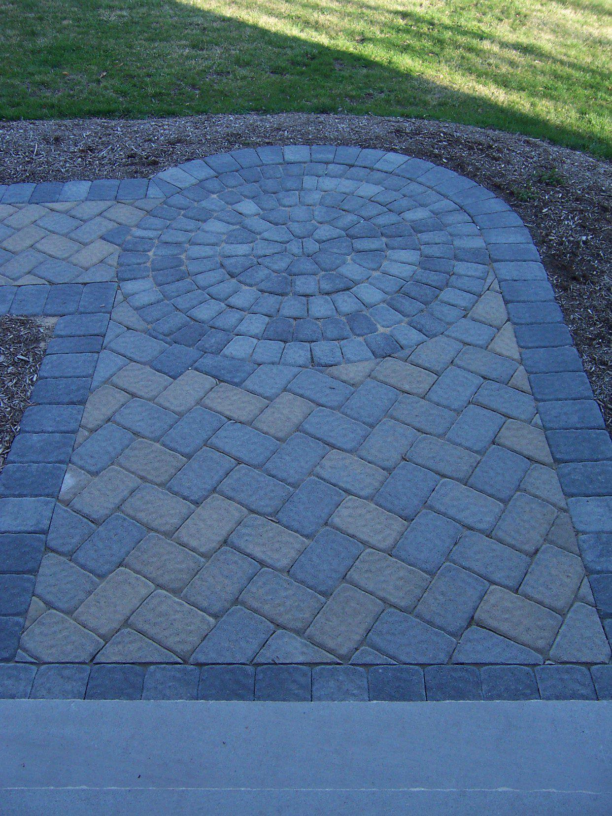 Blue Brick Stone Paver Patterns Pathway Design More