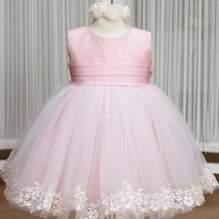 1d191282e8 one year old girl first birthday party dress | ... flower girl dress New  Year Christmas costumes year old baby birthday