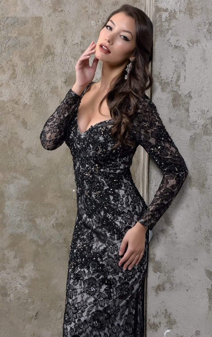 Click to buy ucuc new arrival sexy black lace mermaid prom dresses