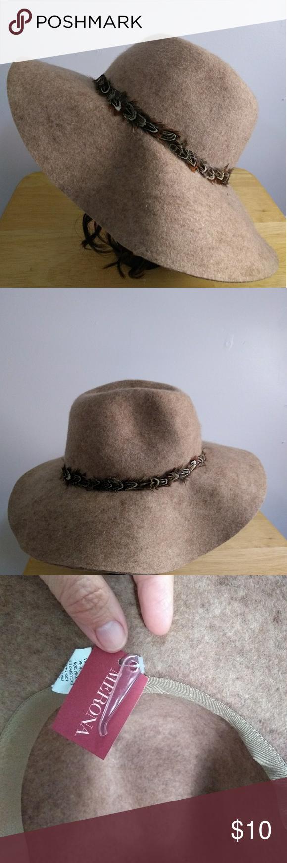 357b073350281 I just added this listing on Poshmark  New Target Brown Feather Wool Floppy  Hippy Hap.  shopmycloset  poshmark  fashion  shopping  style  forsale   Missoni ...