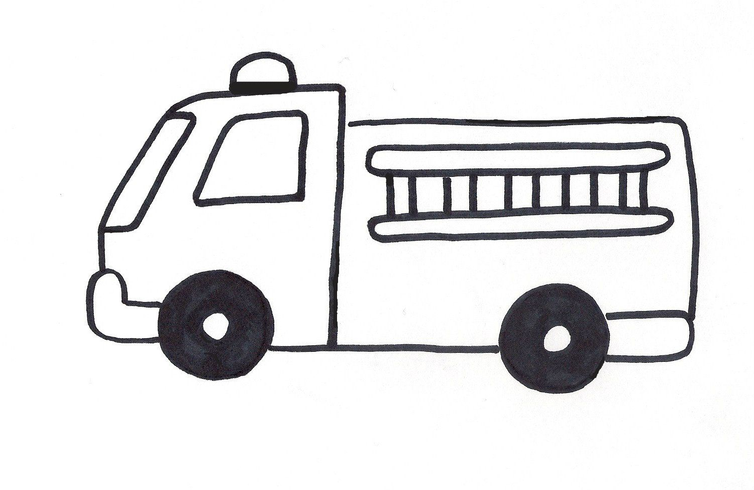 Firetruck Template Truck Coloring Pages Firetruck Coloring Page Fire Trucks