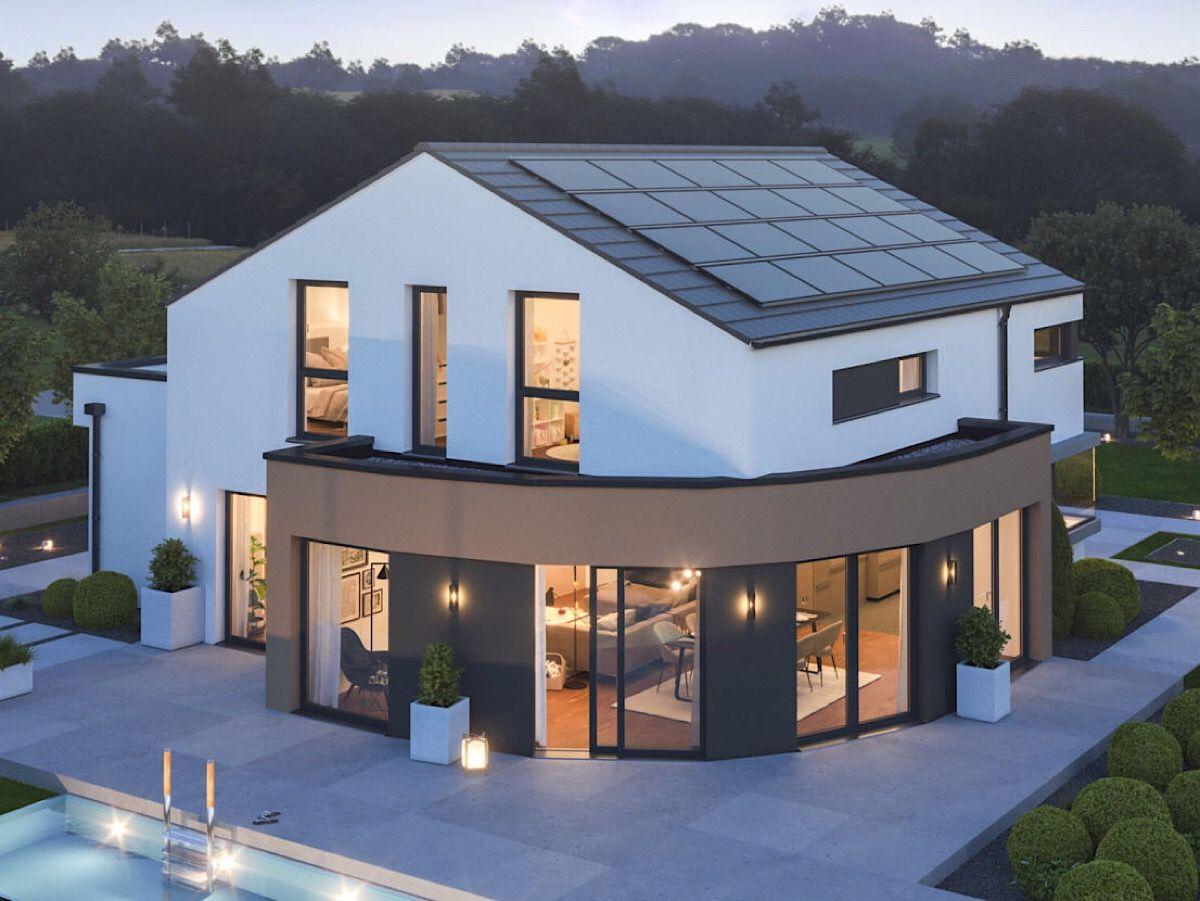 Einfamilienhaus modern minimalistisch mit Satteldach ohne