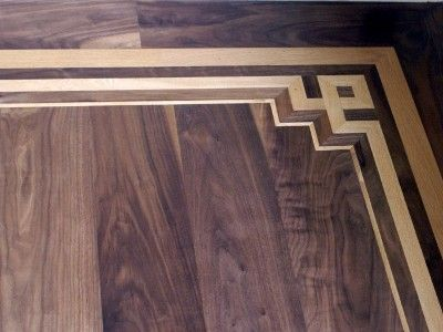 Wood Flooring With Inlay Hardwood Oak Parquet Flooring By