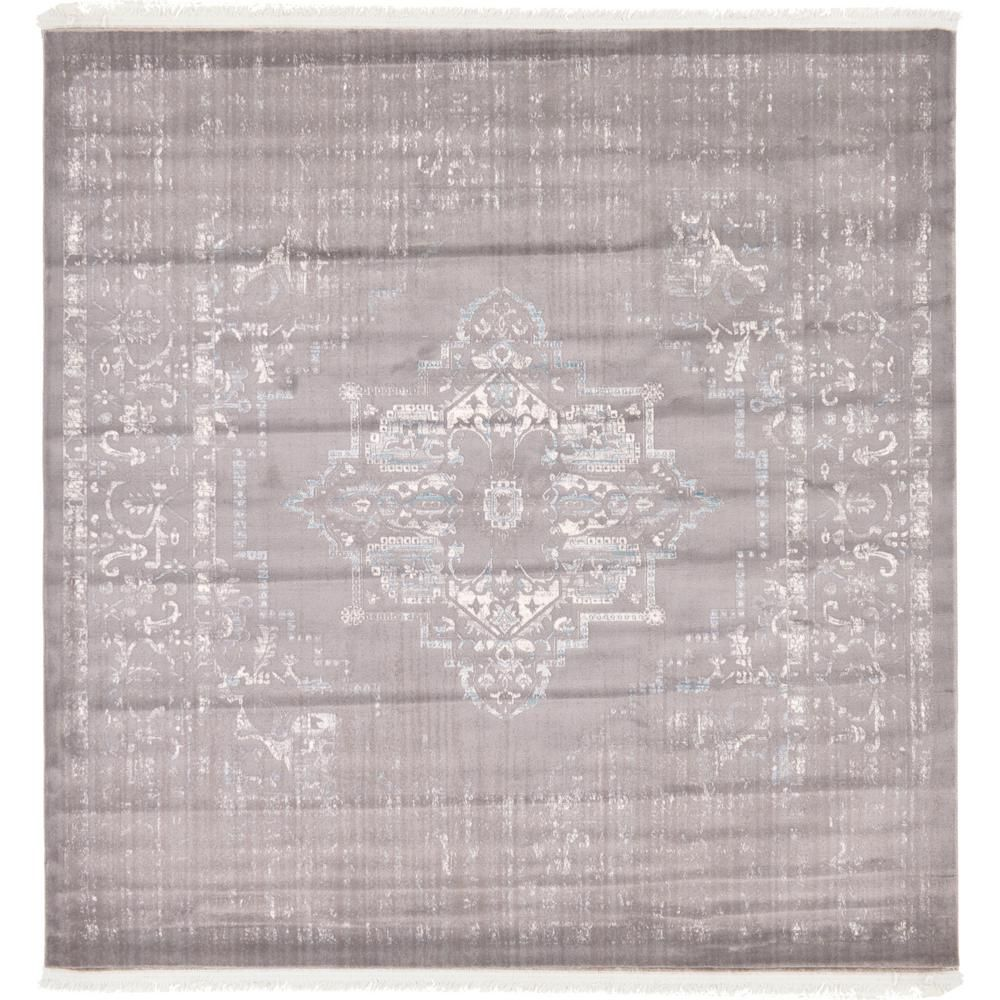 Arcadia Light Gray 8 Ft X Square Area Rug
