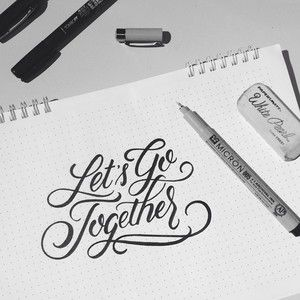 Let s Go To her brush lettering by Wink & Wonder