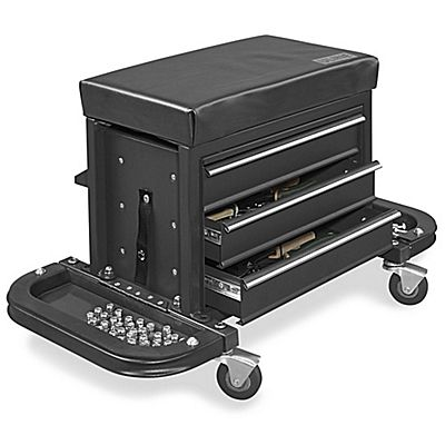 Uline Rolling Tool Chest Seat Black H 6065bl Tool Cabinet