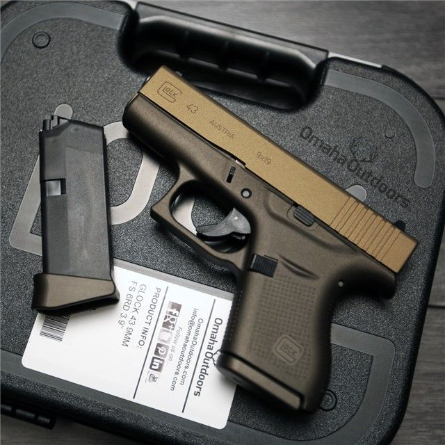 Glock 43 G43 Spartan Burnt Bronze 9mm Gun Semi Auto Pistols At