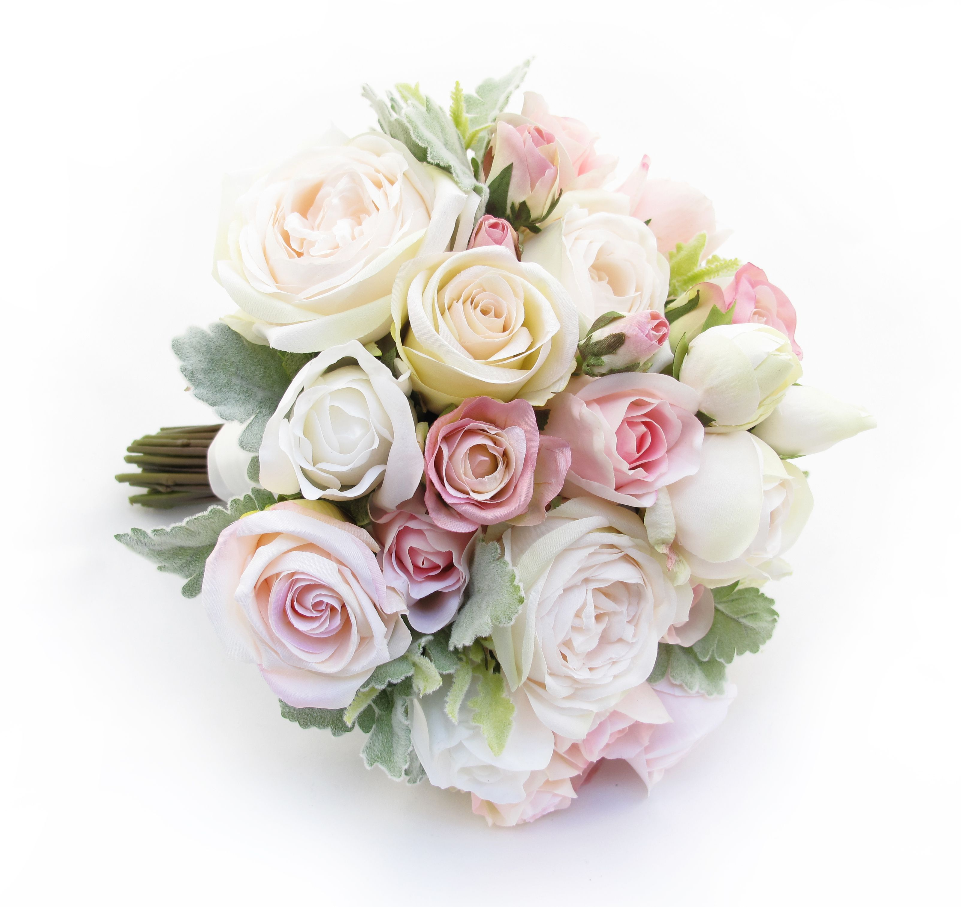 An Extra Large Posy Of Pink/cream Garden Roses, Champagne Paris Roses And  Fresh