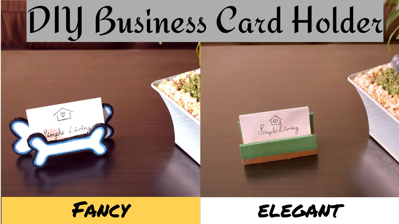 Diy Business Card Holder Stand For Table How To Make Business Card