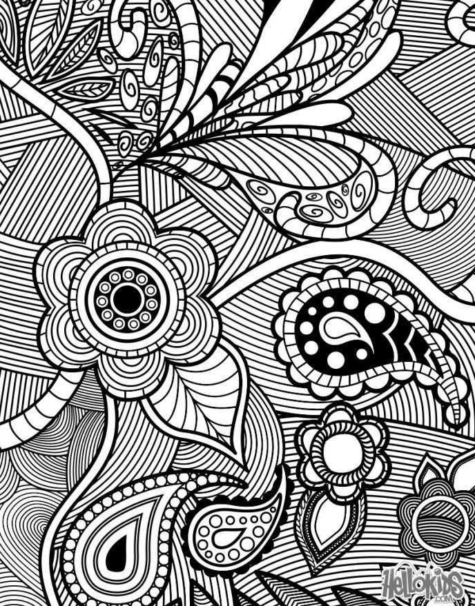 Relax With These 188 Free, Printable Coloring Pages for Adults ...