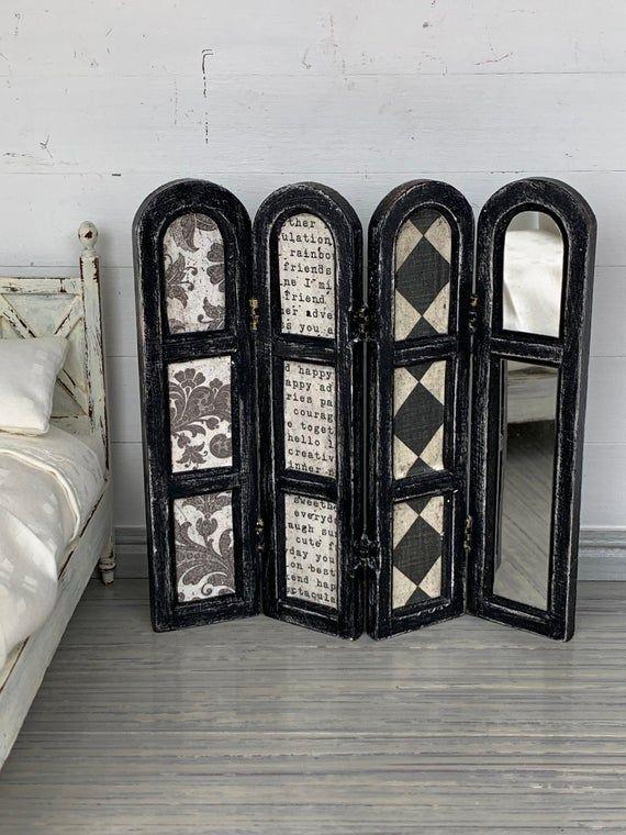 Miniature Screen, Dollhouse Screen, Dollhouse Furniture, Miniature Furniture, Modern Dollhouse Furniture, Miniature Bedroom, Miniatures