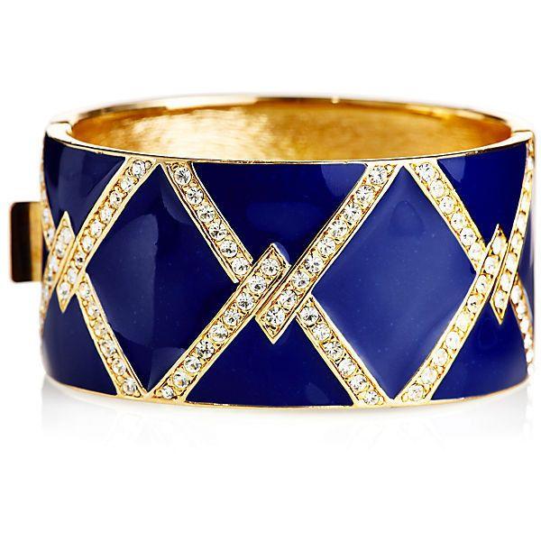 Siena Criss Cross Bracelet Bangle Bracelets (1.240 BRL) ❤ liked on Polyvore featuring jewelry, bracelets, accessories, blue, pulseiras, bangle bracelet, swarovski crystal bracelet, deco bracelet, bracelets & bangles y blue bangle bracelet