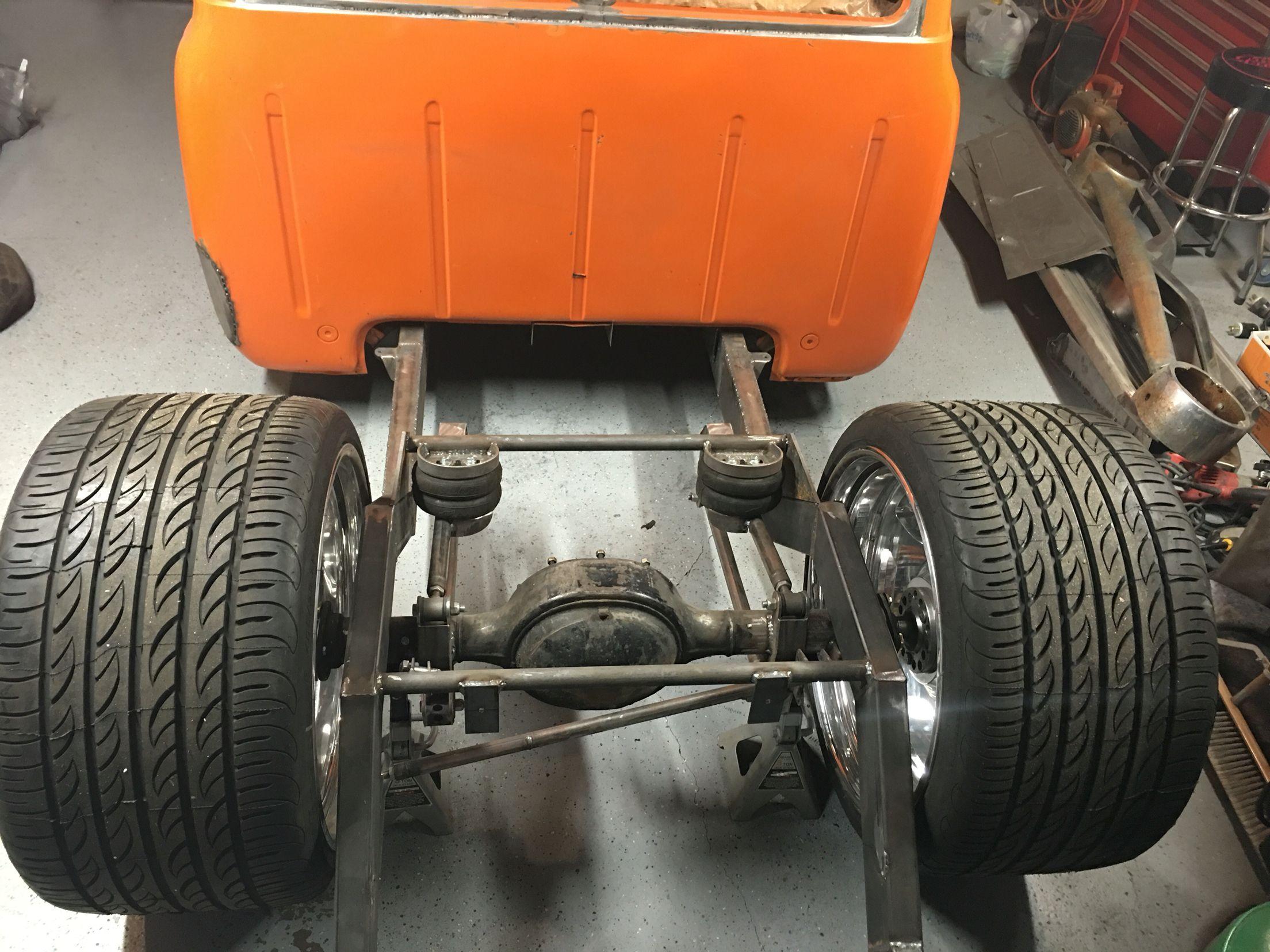 1953 ford f100 bagged on 24x15 raceline smuggler wheels
