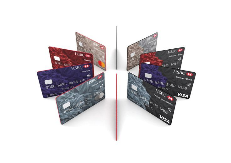 Hsbc Rolls Out New Simplified Bank Card Design Design Week Bank Card Design Hsbc Rolls Simplified Credit Card Design Card Design Bank Credit Cards