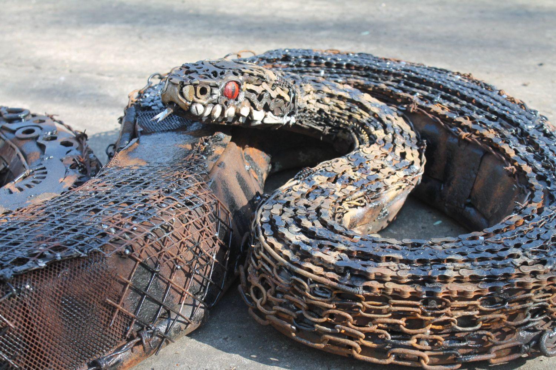 Scrap Metal Sculpture Snake