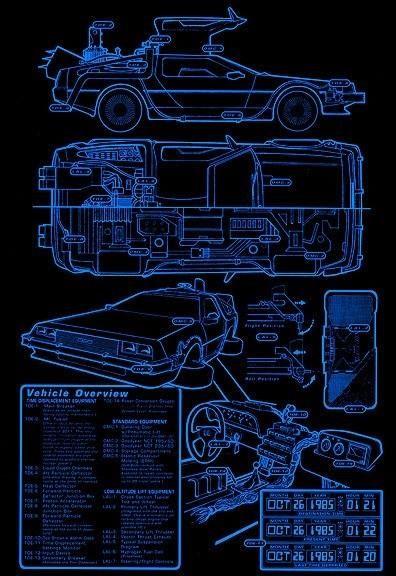 Back to the Future - DeLorian Blueprints | Schematics/Plans ...